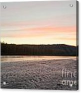 Sunset Twilight Over Taiga At Yukon River Canada Acrylic Print