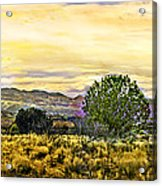 Sunset Verde Valley Thousand Trails Acrylic Print