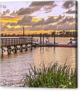 Sunset View Boardwalk Acrylic Print