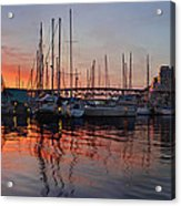 Sunset View From Charleson Park In Vancouver Bc Acrylic Print