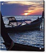 Sunset View From Sunset Beach On Ko Lipe Island In Thailand Acrylic Print