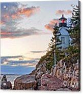 Sunset Watcher - Bass Harbor Head - Maine Acrylic Print