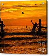 Sunset Water Football Acrylic Print