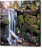Sunset Waterfalls In Marlay Park Acrylic Print
