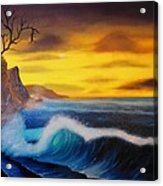Sunset Wave Acrylic Print