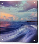 Sunset Wave. Maldives Acrylic Print