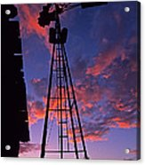 Sunset Windmill Acrylic Print