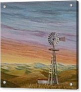 Windmill Sunset Acrylic Print