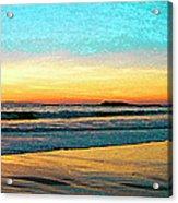 Sunset With Birds Acrylic Print