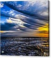 Sunset With Blue Sky Acrylic Print