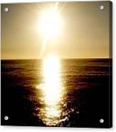 Sunset With Its Golden White Acrylic Print
