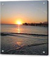 Fishingpier Sunset Acrylic Print