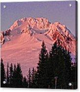 Sunsetting On Mount Hood Oregon 1 Acrylic Print