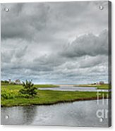 Sunshine And Heavy Clouds Over Dennisport Acrylic Print
