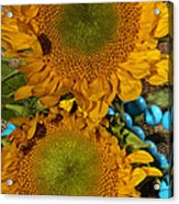 Sunshine And Turquoise  Acrylic Print