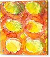 Sunshine Circles Acrylic Print