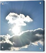 Sunshine Clouds Acrylic Print