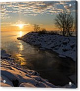 Sunshine On The Ice - Lake Ontario Toronto Canada Acrylic Print