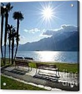Sunshine Over A Lake Front Acrylic Print