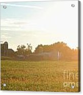 Sunshine Over The Farm Acrylic Print