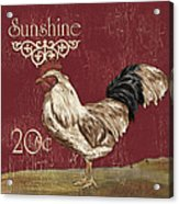 Sunshine Rooster Acrylic Print