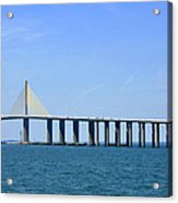 Sunshine Skyway Bridge II Tampa Bay Florida Usa Acrylic Print