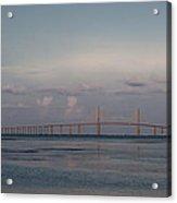 Sunshine Skyway Bridge Acrylic Print by Steven Sparks