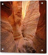 Sunshine Through Slotted Canyon Acrylic Print by Janice Sakry