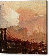 Sunsrise Over Brooklyn Bridge Acrylic Print