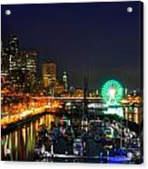 Super Bowl Eve In Seattle Acrylic Print