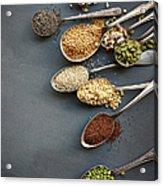 Super Food Grains On Spoons Acrylic Print