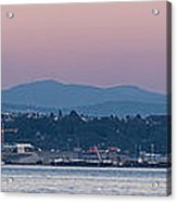 Super Moon And Sailing Panorama Acrylic Print