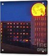 Super Moon In Halifax Nova Scotia Acrylic Print