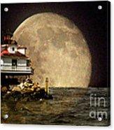 Super Moon Lighthouse Acrylic Print