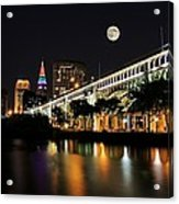 Super Moon Over Cleveland Acrylic Print