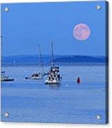 Super Moon Rising In Maine Acrylic Print
