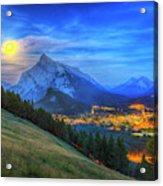 Super Moonrise Over Banff Acrylic Print