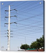 Super Power Pole And Wires Acrylic Print