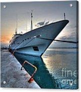 Super Yacht At Nafplion  Acrylic Print