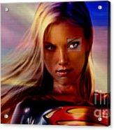 Supergirl Acrylic Print by Marvin Blaine