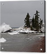 Superior Island View Of Storm Acrylic Print