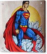 Superman Lives On Acrylic Print