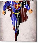 Superman - Man Of Steel Acrylic Print by Ayse Deniz