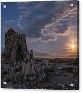 Supermoon At Mono Lake Acrylic Print