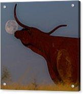 Supermoon On The Ranch Acrylic Print