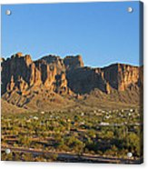Superstition Mountain In The Evening Sun Acrylic Print