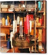 Supplies In Tailor Shop Acrylic Print