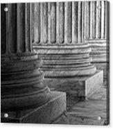 Supreme Court Columns Black And White Acrylic Print