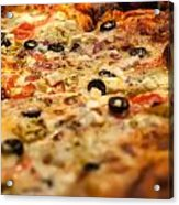 Supreme Meat Works Pizza  Sliced And Ready To Eat Acrylic Print