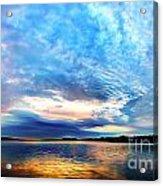 Sureal Pewaukee Lake Sunrise Acrylic Print